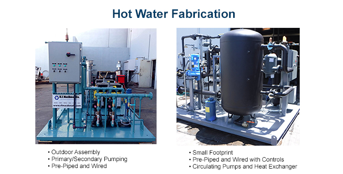 Hot Water Skid Fabrication
