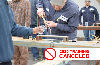 pump training, boiler training canceled