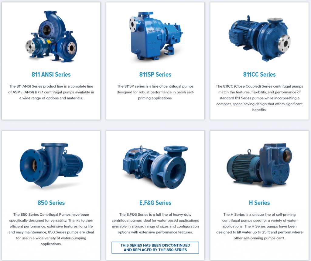 Griswold Self-Priming Centrifugal Pumps