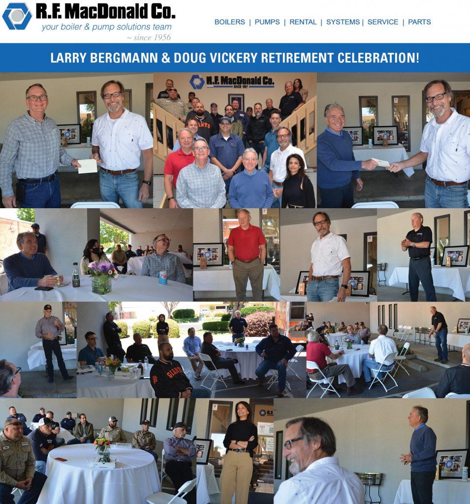 Boiler Experts Larry Bergmann & Doug Vickery Retire