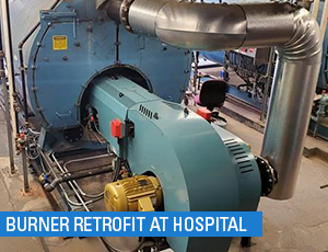 hospital burner retrofit